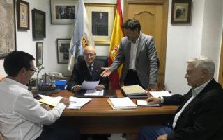 Visita do Secretario Xeral da Emigración, Antonio Rodríguez Miranda