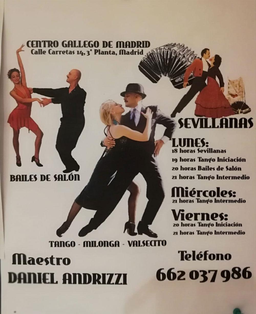 Bailes de Salón. Sevillanas. Tangos. Milongas