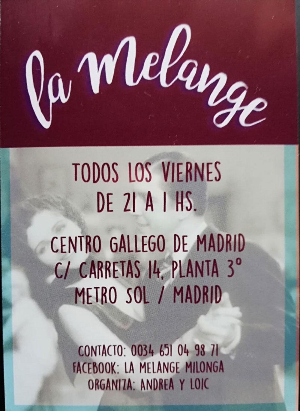 Tango y Milonga La Melange