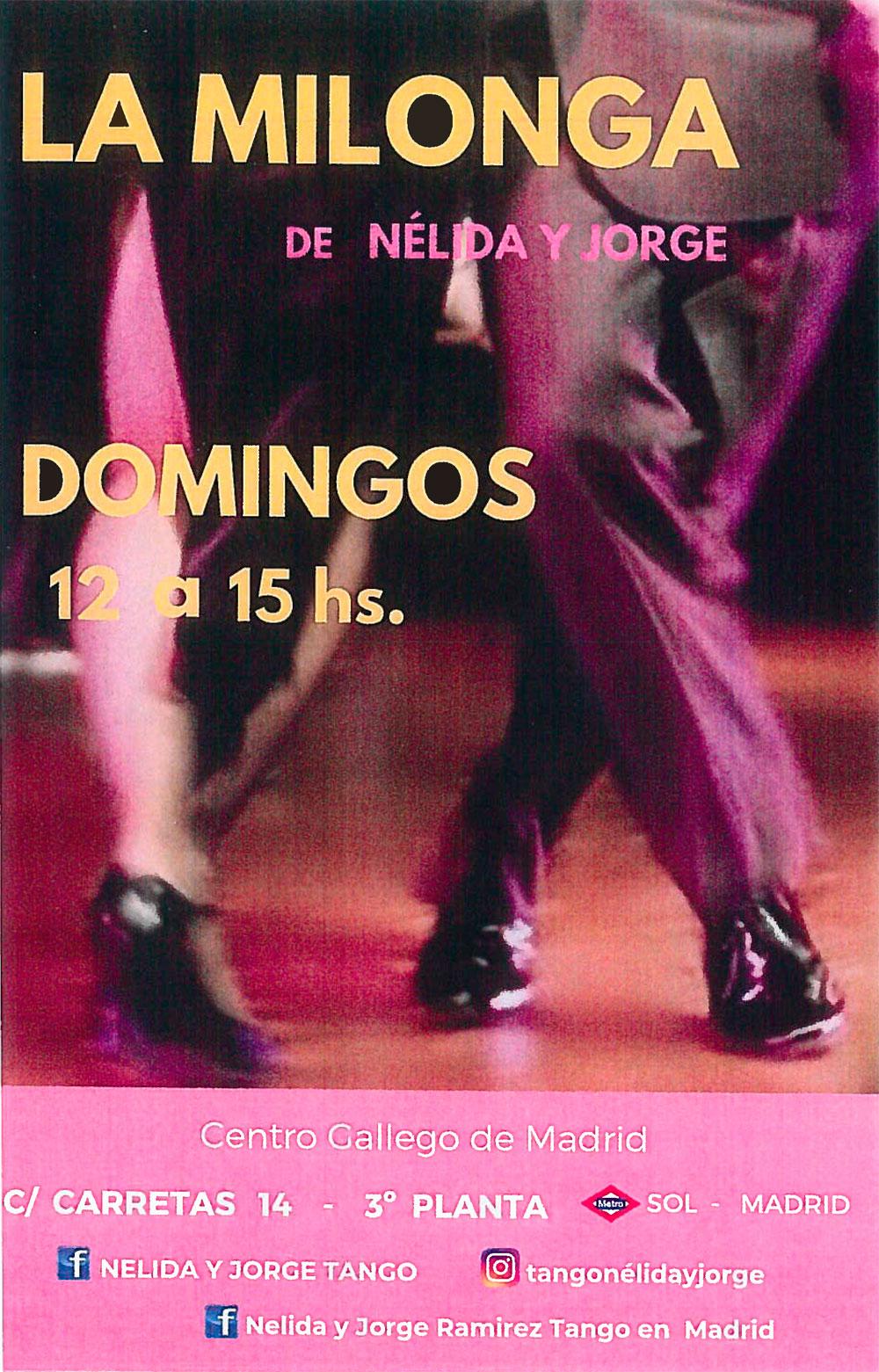 Nélida y Jorge. Clases de Tango los domingos