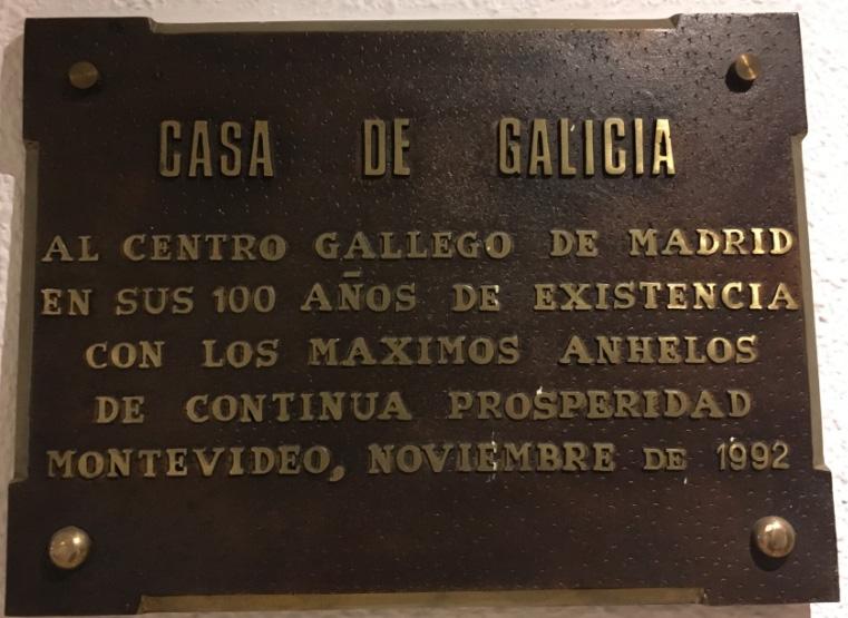A homenaxe da Casa de Galicia