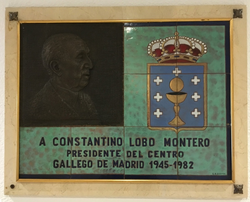 Constantino Lobo Montero presidente del Centro Gallego de Madrid 1945-1982