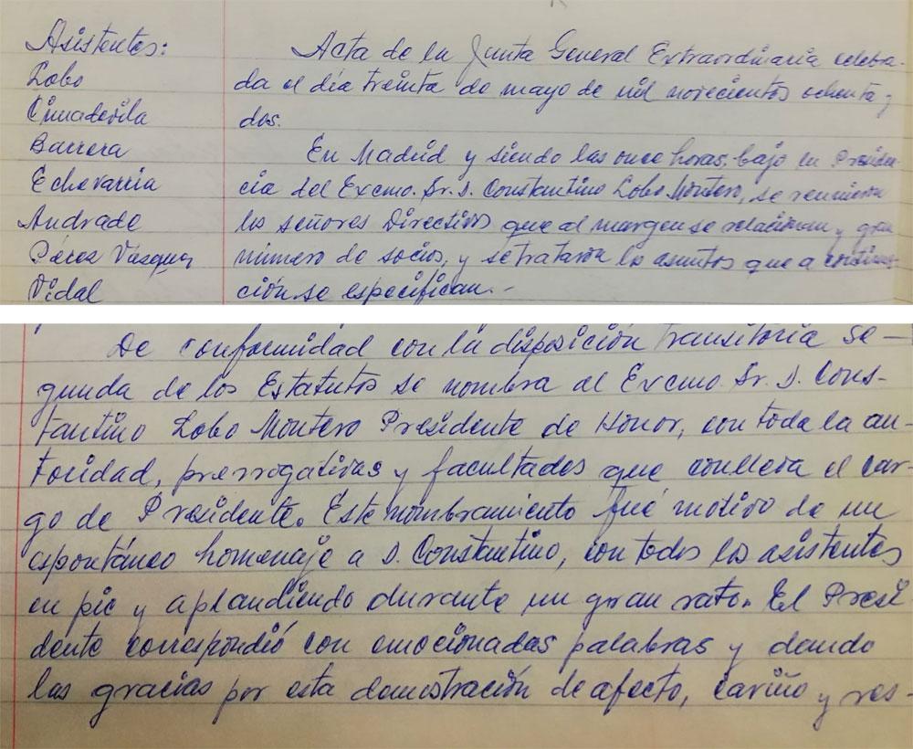 Acta Constantino Lobo Montero