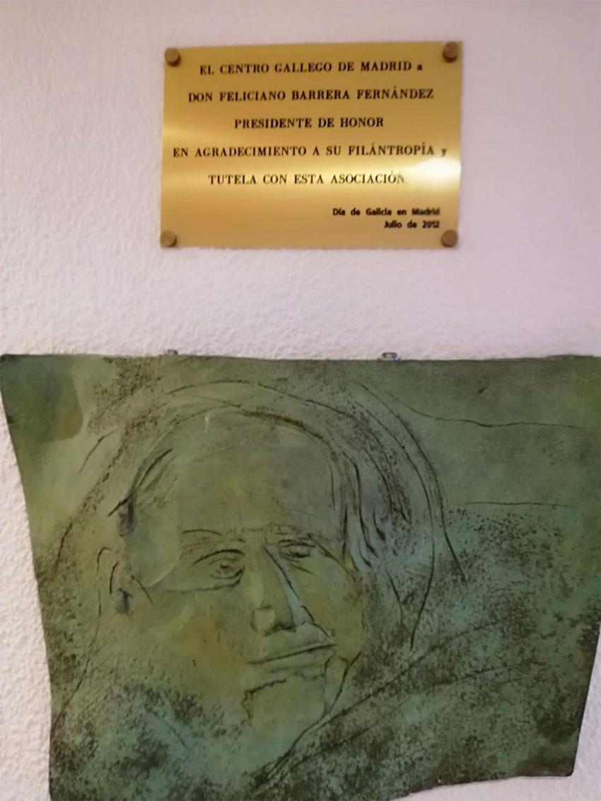 El Centro Gallego de Madrid a Don Feliciano Barrera Fernández