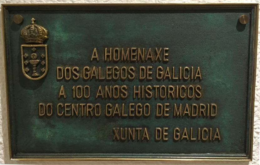A homenaxe dos galegos de Galicia